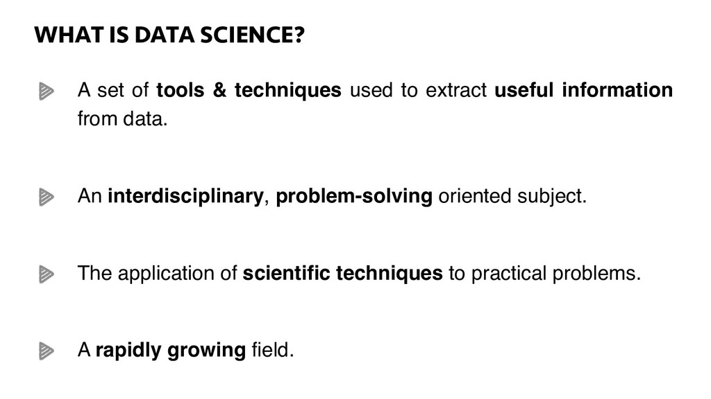 WHAT IS DATA SCIENCE? WHAT IS DATA SCIENCE? A s...