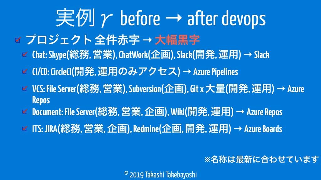 © 2019 Takashi Takebayashi ϓϩδΣΫτ શ݅ → େ෯ࠇ ࣮...