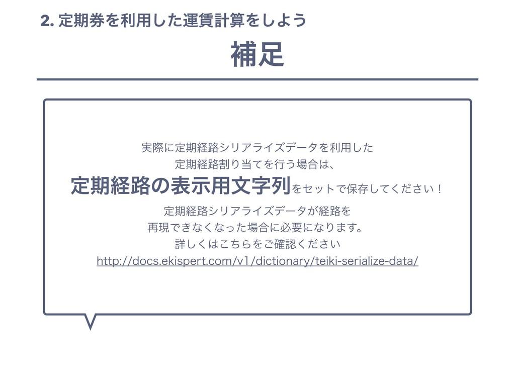 2. ఆظ݊Λར༻ͨ͠ӡܭΛ͠Α͏ ఆظܦ࿏ΛׂΓͯΔ