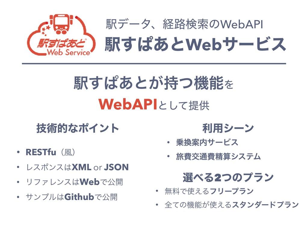 Ӻ͢ͺ͋ͱWebαʔϏε Ӻσʔλɺܦ࿏ݕࡧͷWebAPI Ӻ͢ͺ͋ͱ͕ͭػΛ WebAP...