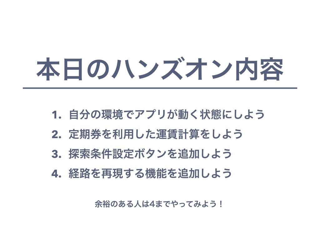 ຊͷϋϯζΦϯ༰ 1. ࣗͷڥͰΞϓϦ͕ಈ͘ঢ়ଶʹ͠Α͏ 2. ఆظ݊Λར༻ͨ͠ӡܭ...