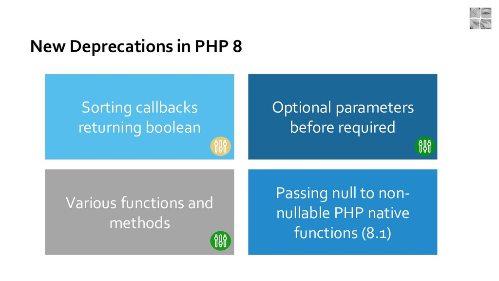 New Deprecations in PHP 8 Passing null to non- ...