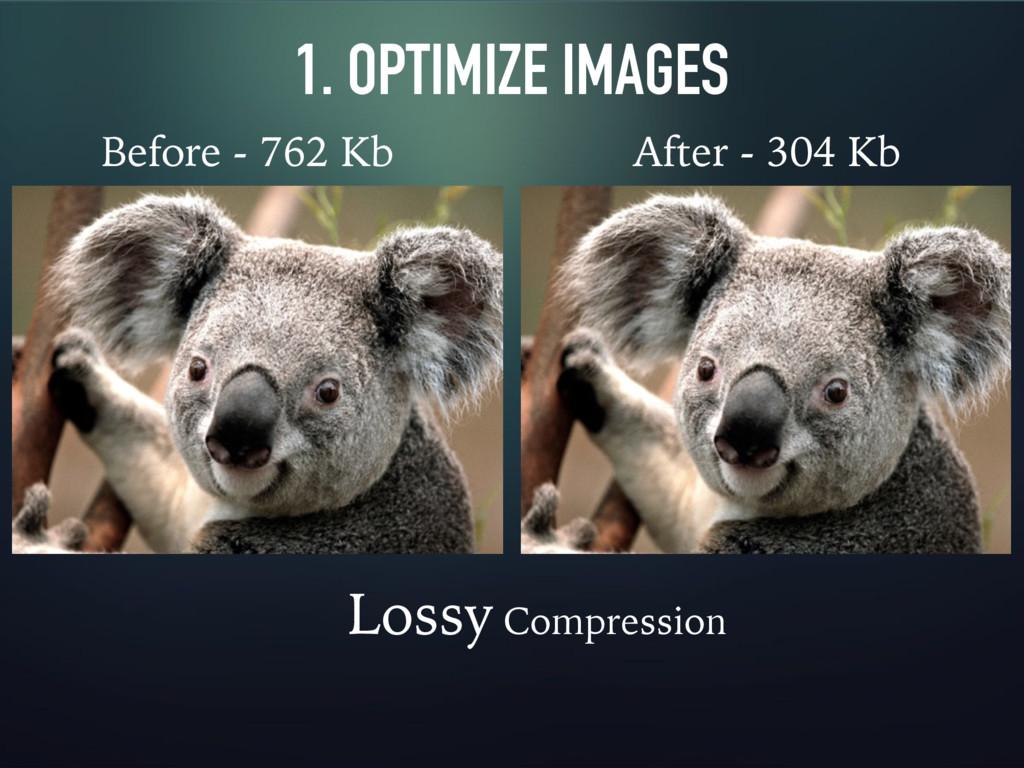 1. OPTIMIZE IMAGES Before - 762 Kb After - 304 ...