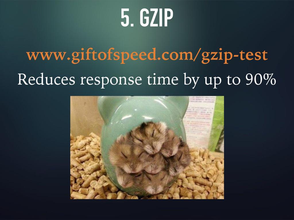 5. GZIP www.giftofspeed.com/gzip-test Reduces r...
