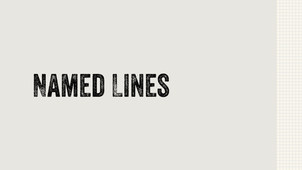 Named Lines