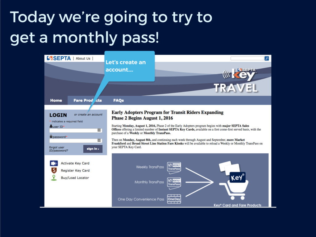 Today we're going to try to get a monthly pass!...
