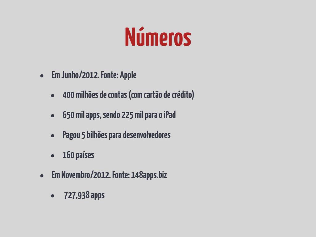 • Em Junho/2012. Fonte: Apple • 400 milhões de ...