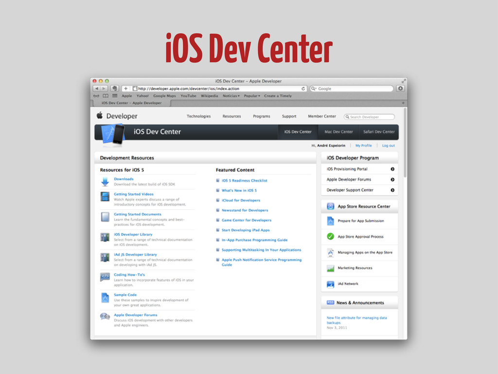 iOS Dev Center