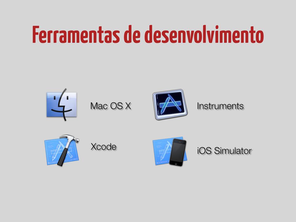 Ferramentas de desenvolvimento Mac OS X Xcode I...
