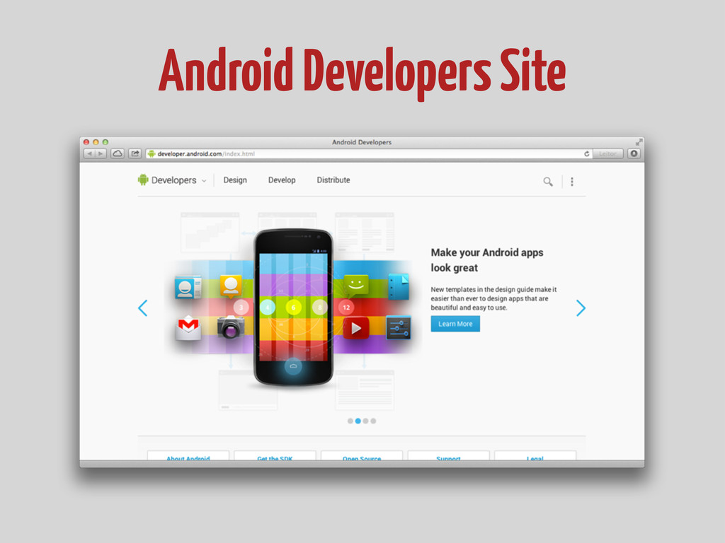 Android Developers Site
