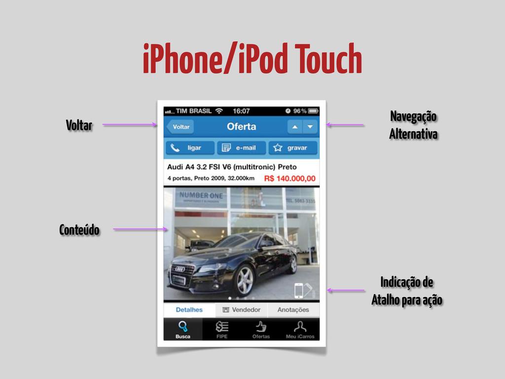 iPhone/iPod Touch Navegação Alternativa Conteúd...