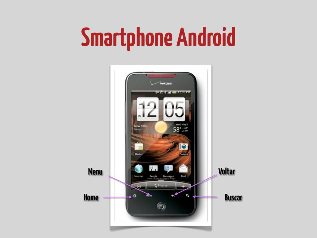 Smartphone Android Menu Voltar Home Buscar