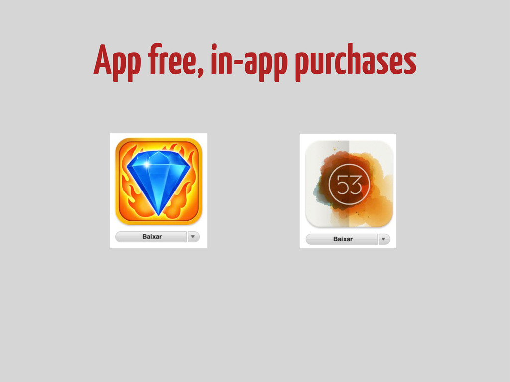 App free, in-app purchases