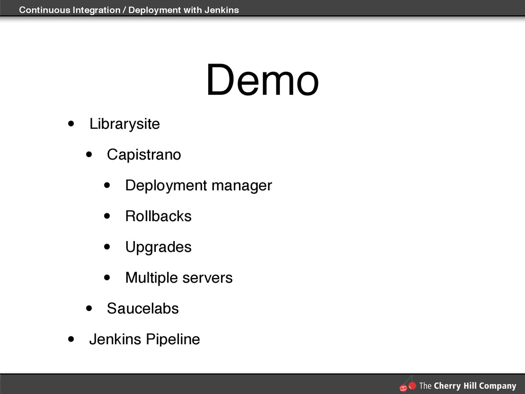Continuous Integration / Deployment with Jenkin...
