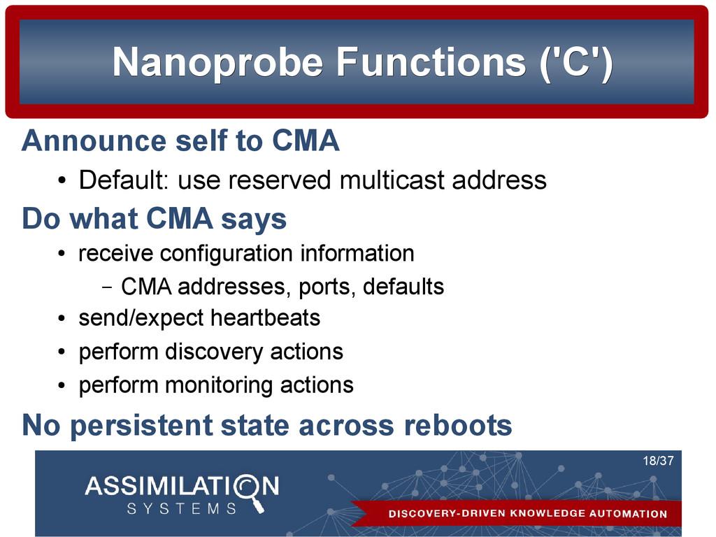 18/37 Nanoprobe Functions ('C') Nanoprobe Funct...