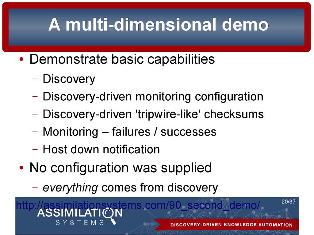 20/37 A multi-dimensional demo A multi-dimensio...