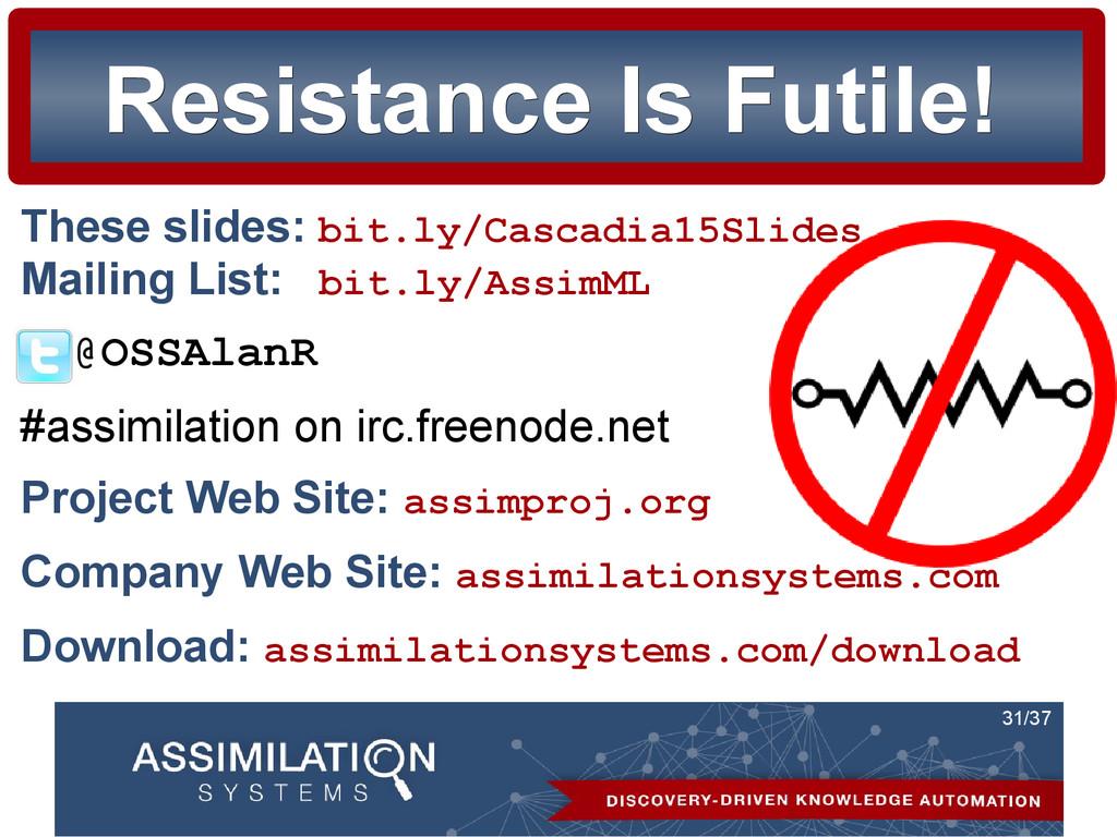 31/37 Resistance Is Futile! Resistance Is Futil...