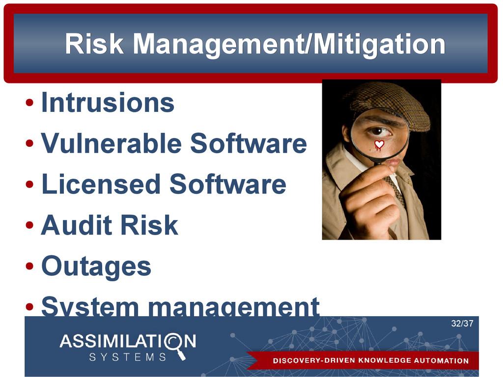 32/37 Risk Management/Mitigation Risk Managemen...