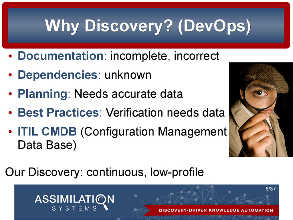 8/37 Why Discovery? (DevOps) Why Discovery? (De...