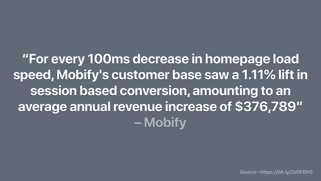"""For every 100ms decrease in homepage load spee..."