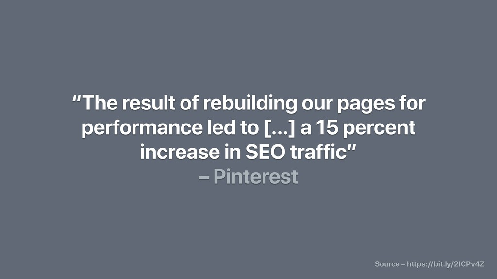 """The result of rebuilding our pages for perform..."