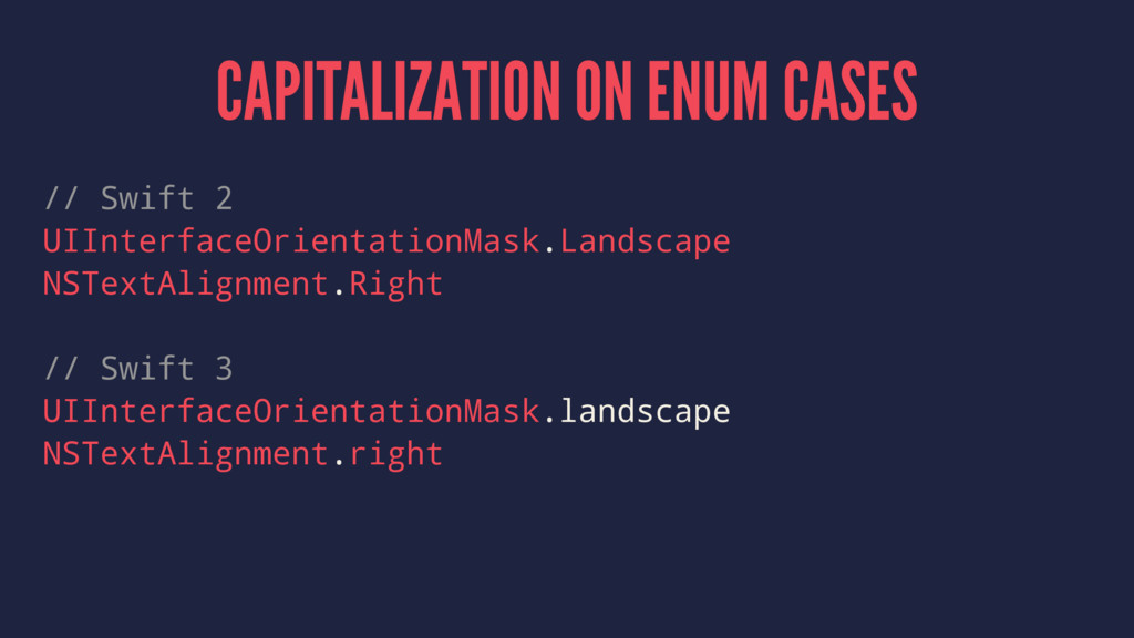 CAPITALIZATION ON ENUM CASES // Swift 2 UIInter...