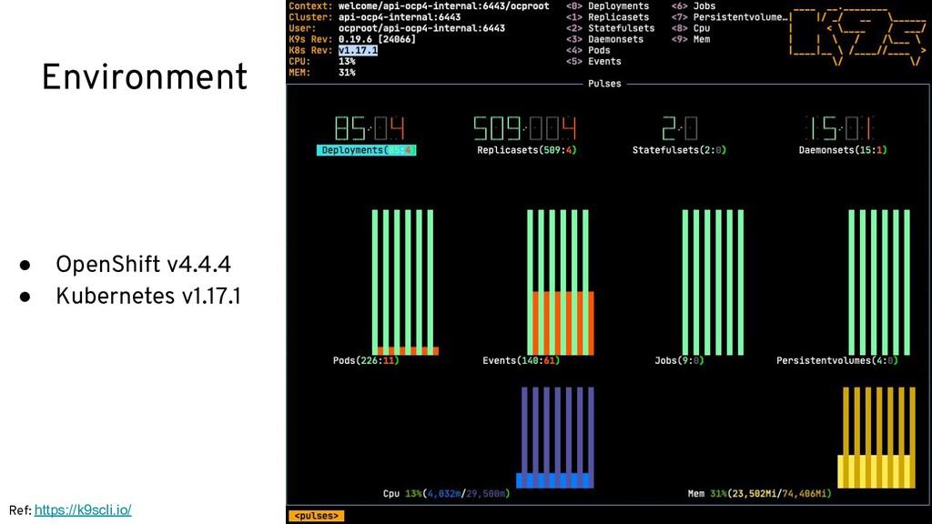 Environment ● OpenShift v4.4.4 ● Kubernetes v1....