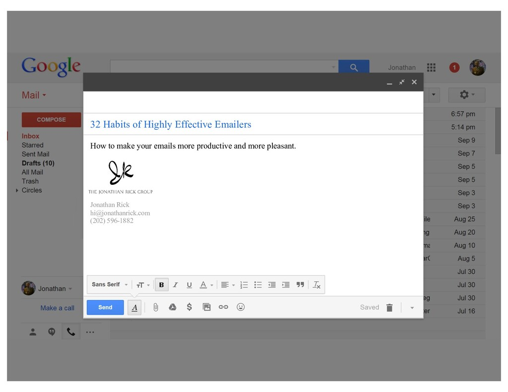 29 Habits of Highly Effective Emailers How to m...