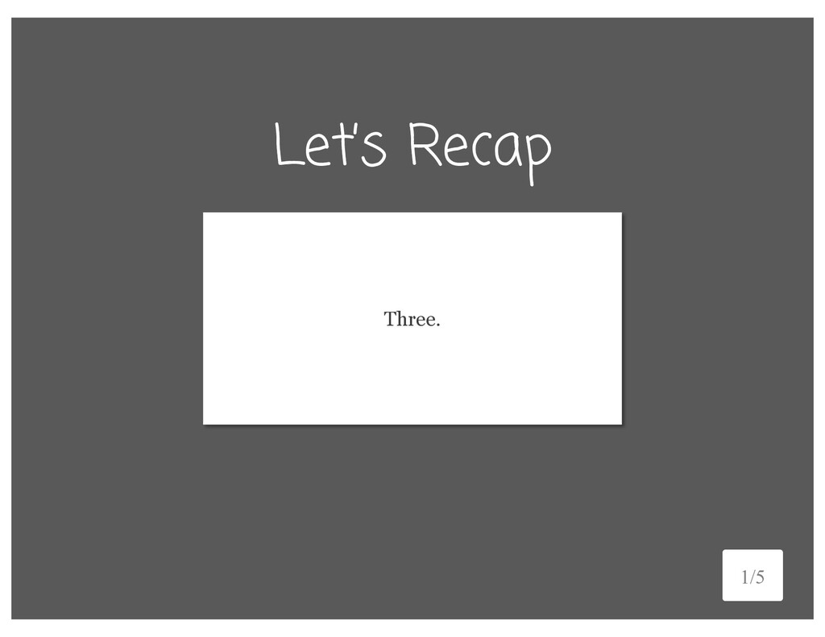 Let's Recap Name three ways to add padding. 4/5