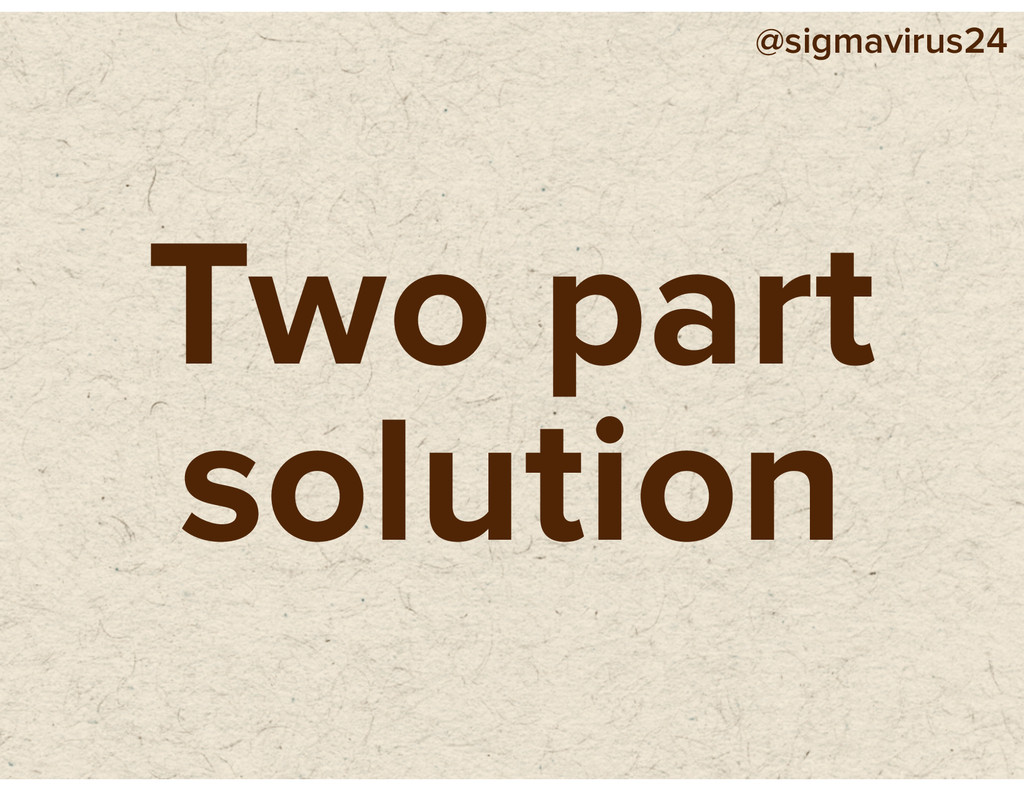@sigmavirus24 Two part solution
