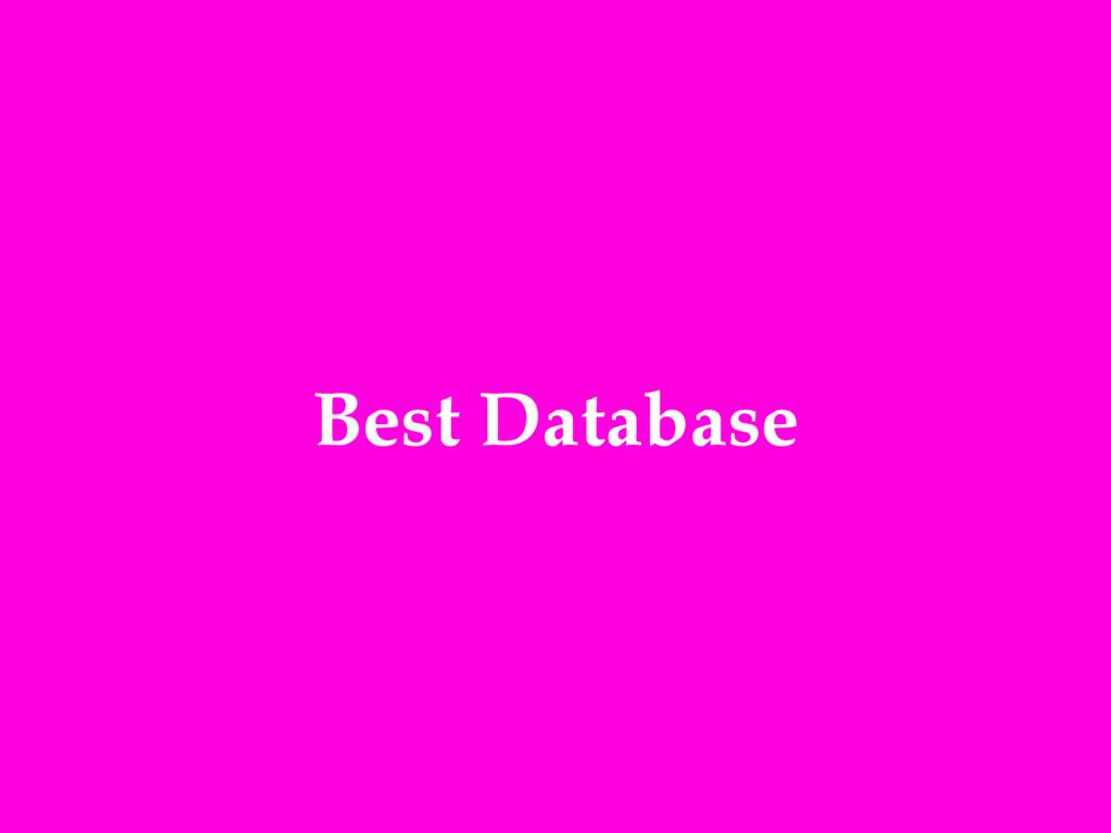 Best Database