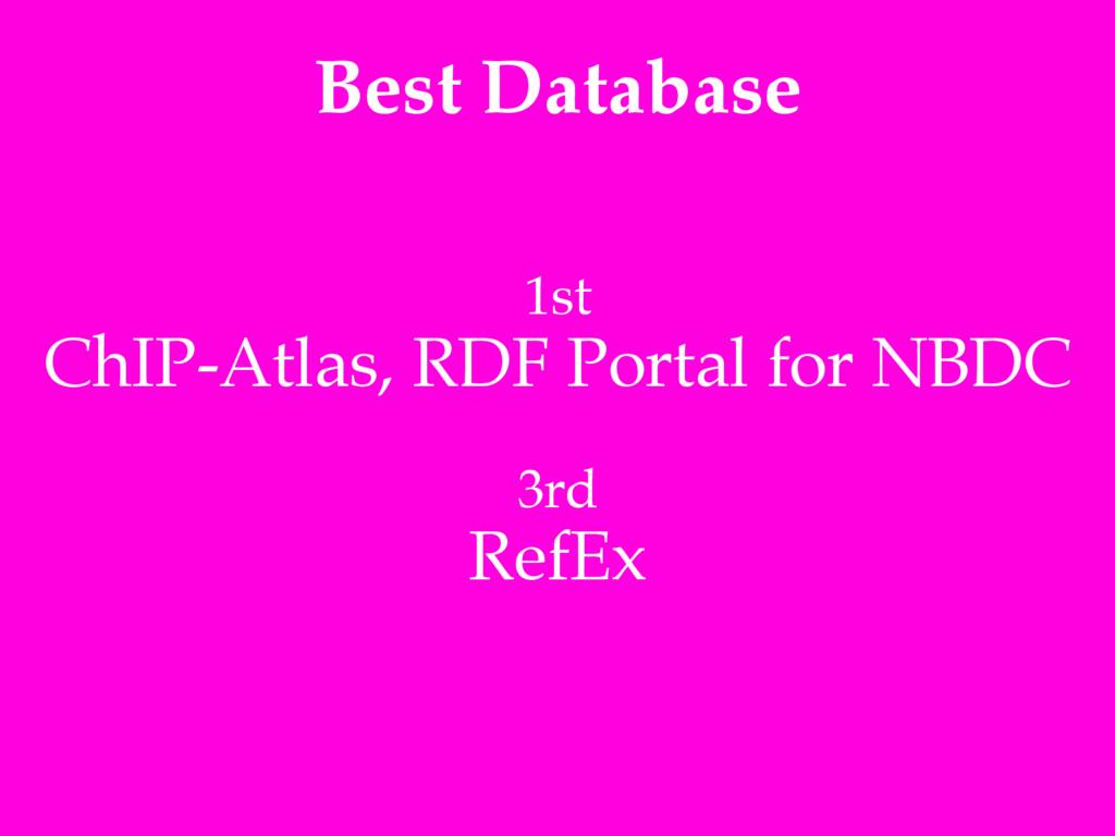 Best Database 1st! ChIP-Atlas, RDF Portal for N...