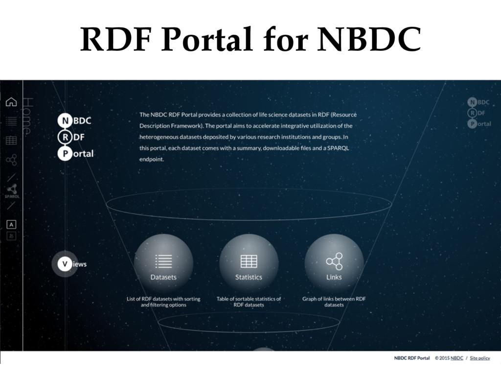RDF Portal for NBDC