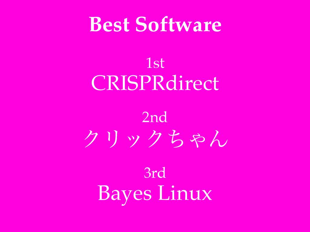 Best Software 1st! CRISPRdirect! ! 2nd! ΫϦοΫͪΌΜ...