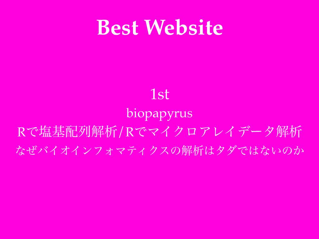 Best Website 1st! biopapyrus! RͰԘجྻղੳ/RͰϚΠΫϩΞϨ...