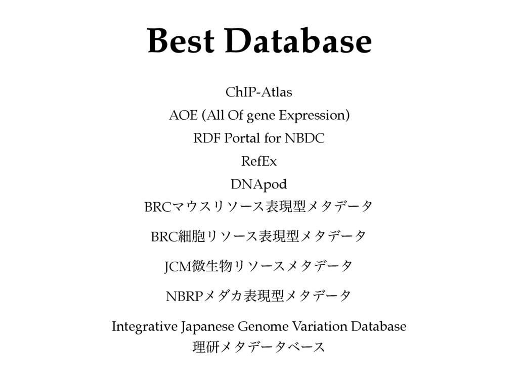 Best Database ChIP-Atlas! AOE (All Of gene Expr...