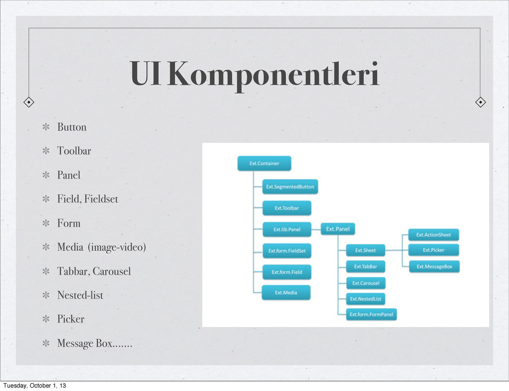 UI Komponentleri Button Toolbar Panel Field, Fi...