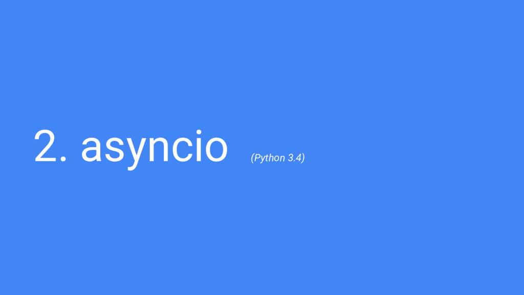 2. asyncio (Python 3.4)