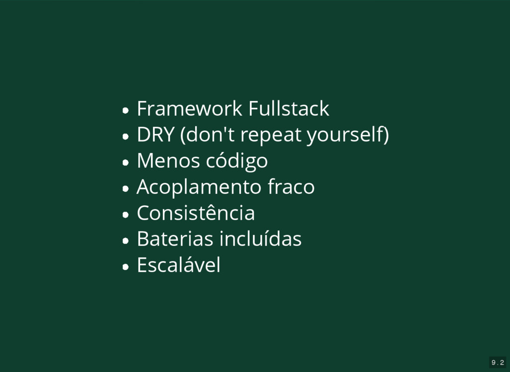9 . 2 Framework Fullstack DRY (don't repeat you...
