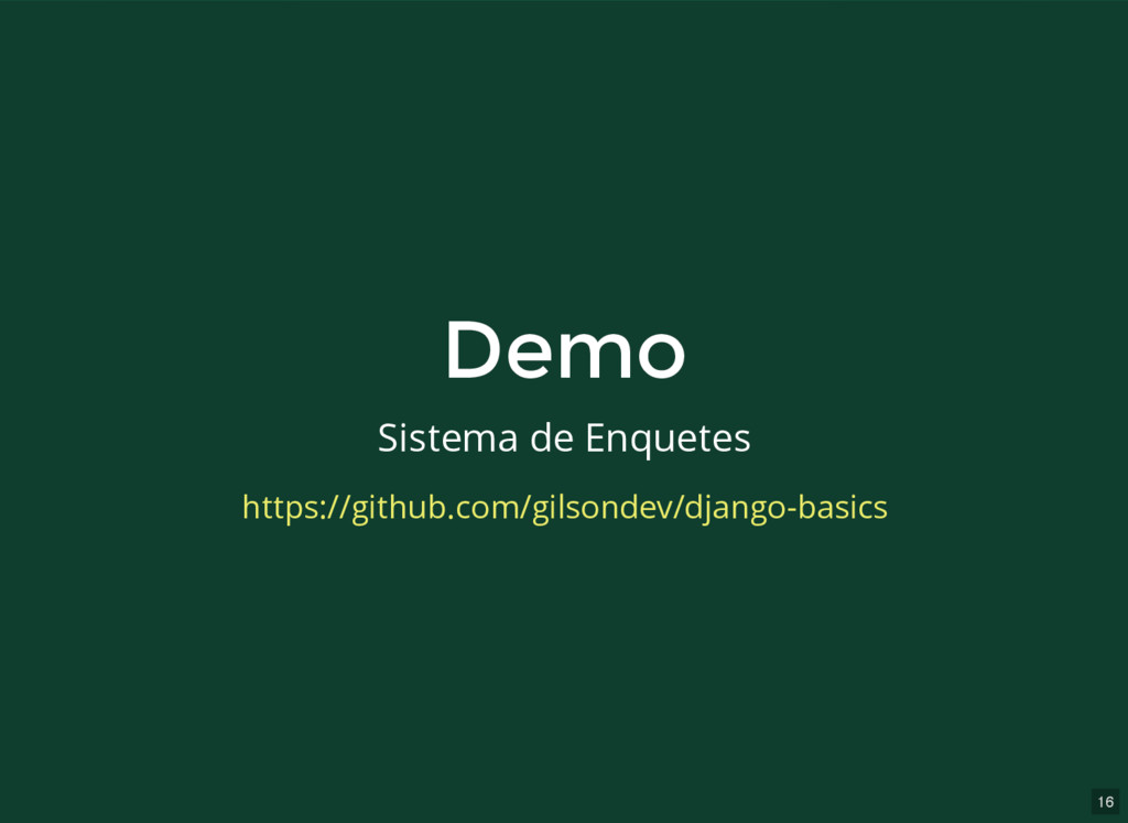 16 Demo Demo Sistema de Enquetes https://github...
