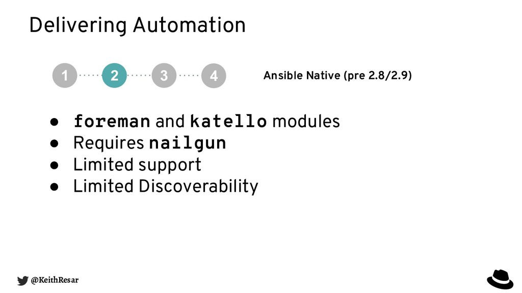 Delivering Automation Ansible Native (pre 2.8/2...