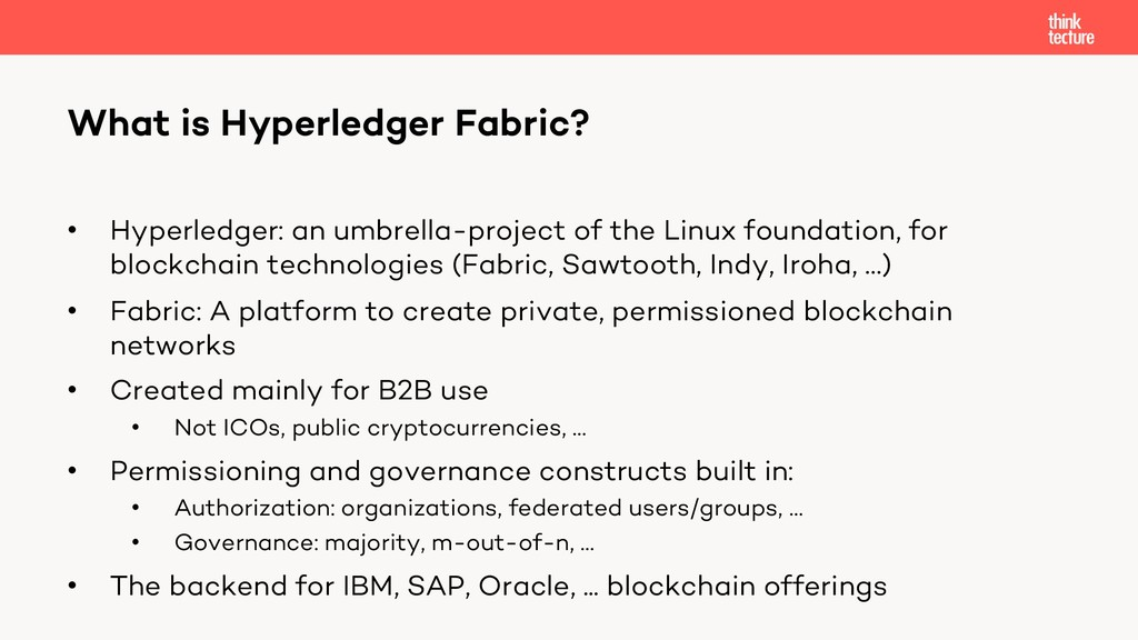 • Hyperledger: an umbrella-project of the Linux...
