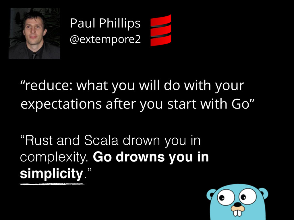 """""""reduce: what you will do with your expectation..."""