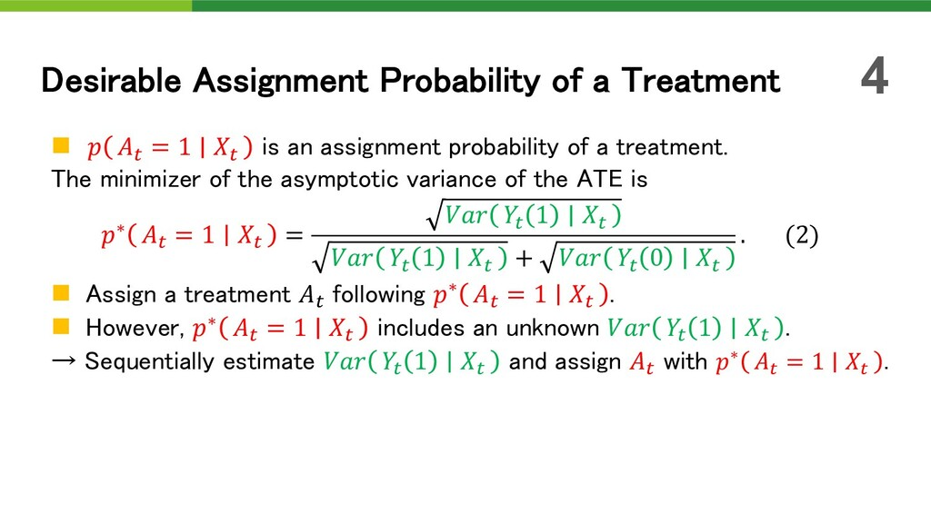 n  ! = 1 ! is an assignment probability of a tr...