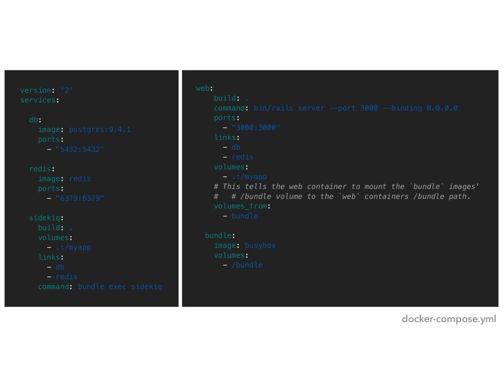 version: '2' services: db: image: postgres:9.4....