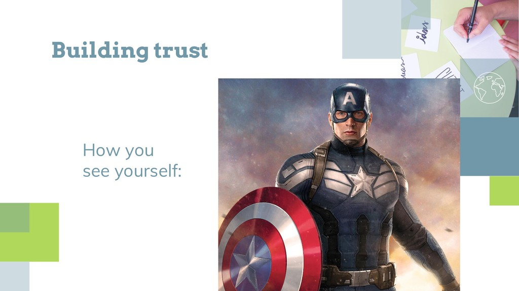 Building trust How you see yourself: