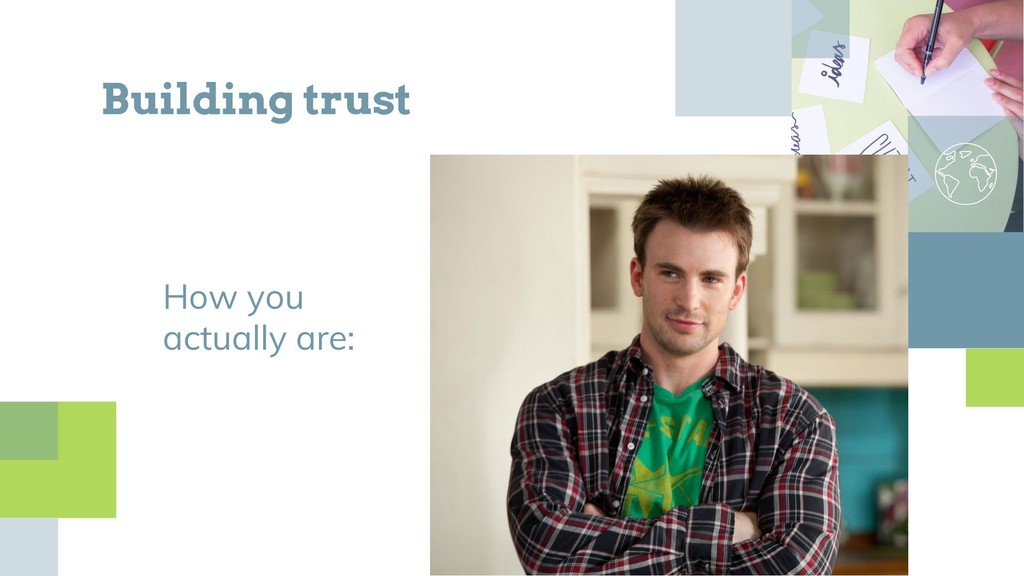 How you actually are: Building trust