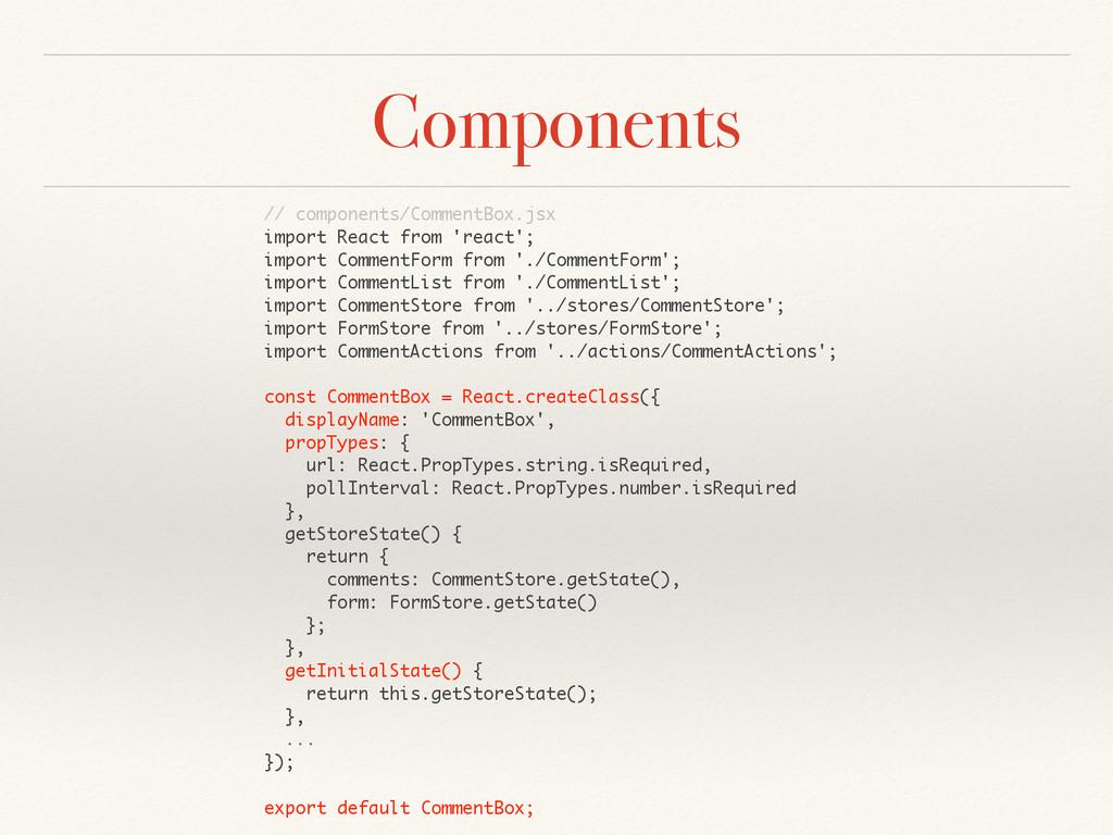 Components // components/CommentBox.jsx import ...