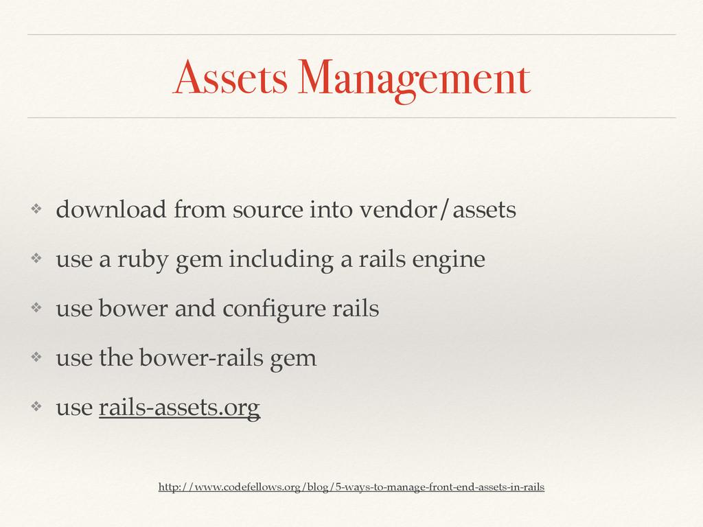Assets Management ❖ download from source into v...