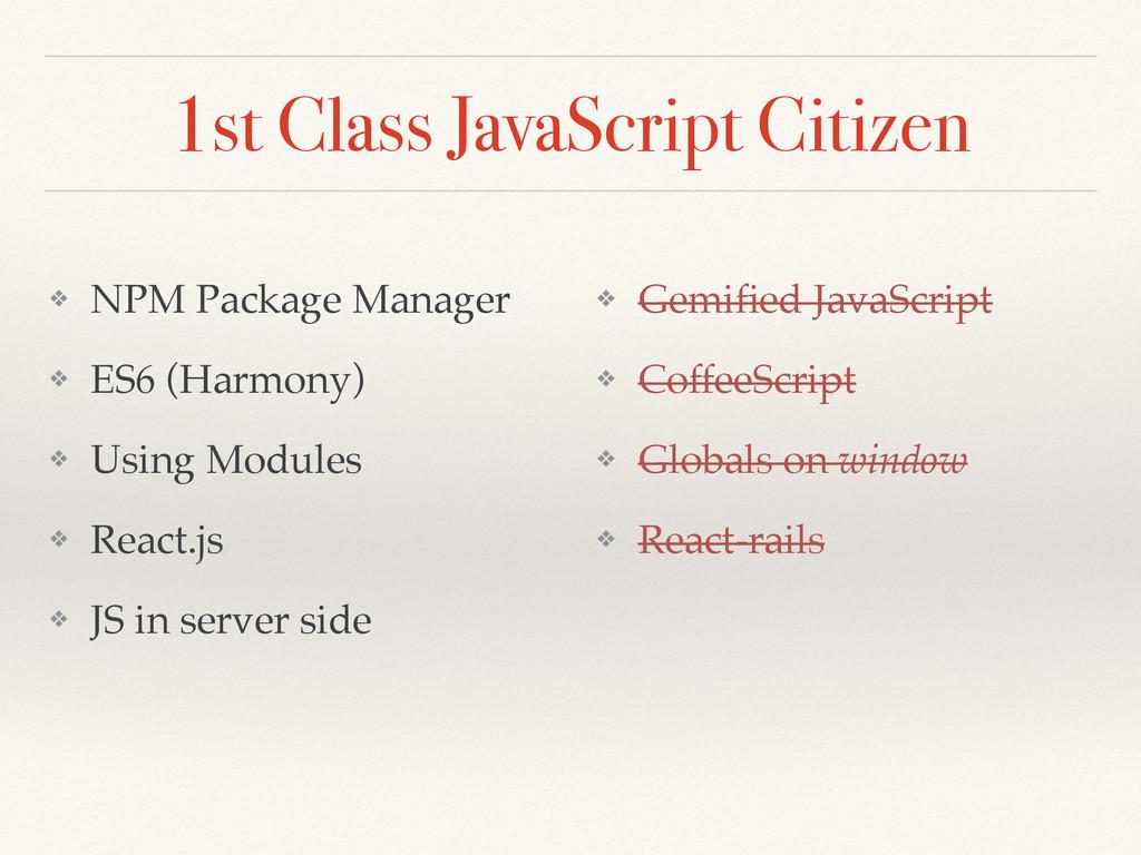1st Class JavaScript Citizen ❖ NPM Package Mana...
